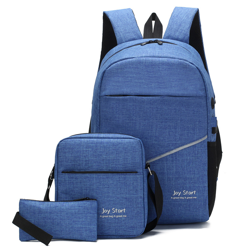 3pcs/set 15.6 Inch USB Charging Port School Bags Oxford School Backpacks Teenagers Boys Girls Daypack Shoulder Bag Sac Mochilas
