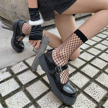 Short-Boots Socks White Hollow New Mesh Street-Tube Punk Sexy Female Black Handsome