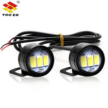 цена на YOUEN DC 12V 5W Eagle Eyes LED 20mm Reverse Backup Light drl Daytime Running Light Signal Bulb Fog Lamp for Motorcycle Car
