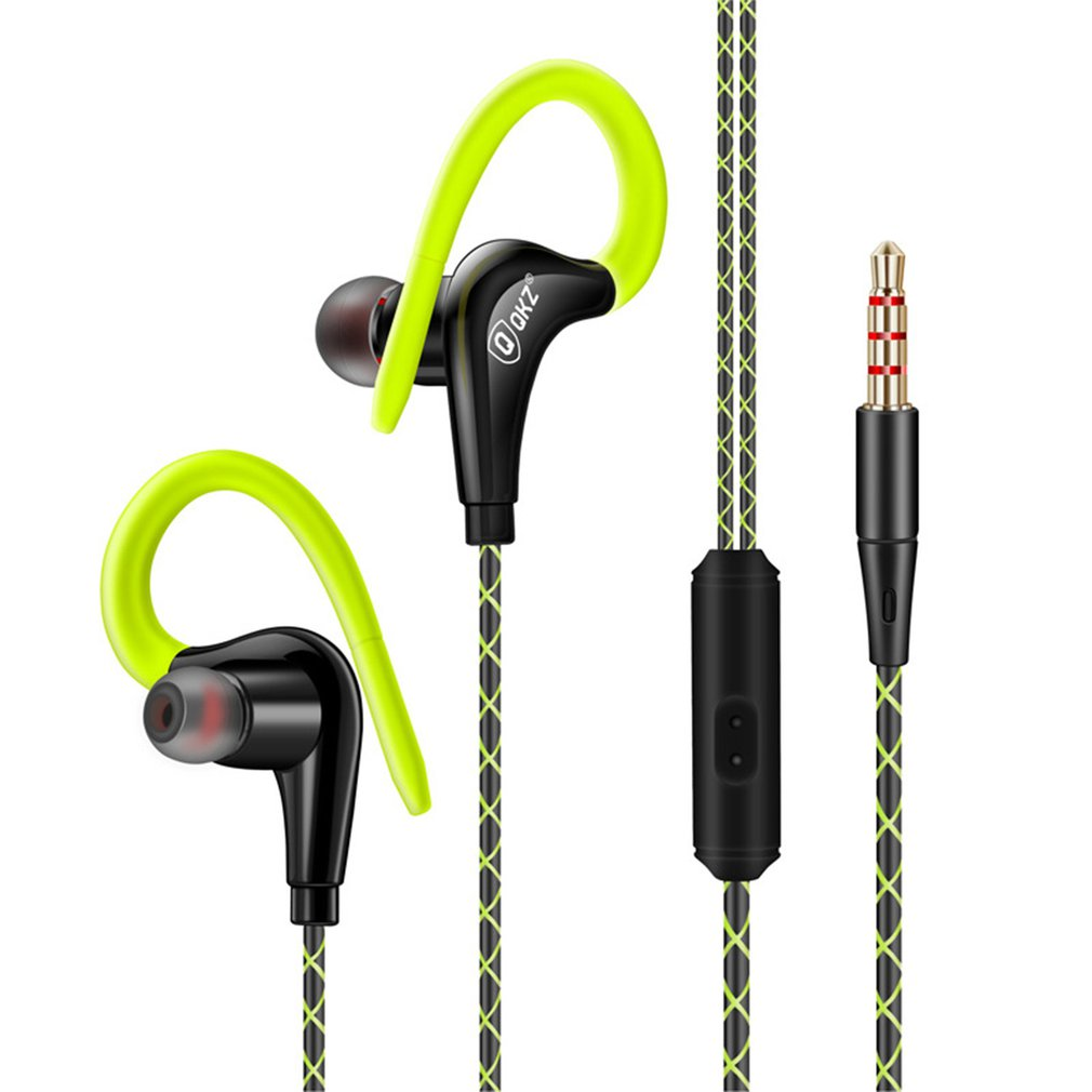 QKZ DM500 Best Cheap 10mm Driver Ear Hook In Ear Sport Earphone Stereo Earbud Bass Sport Earphone with Mic image