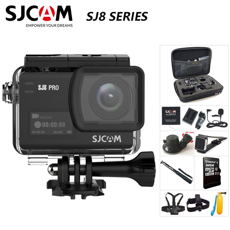 Original SJCAM SJ8 Series SJ8 Air & SJ8 Plus & SJ8 Pro Action Camera 1290P 4K WIFI Remote Control Waterproof Sports DV