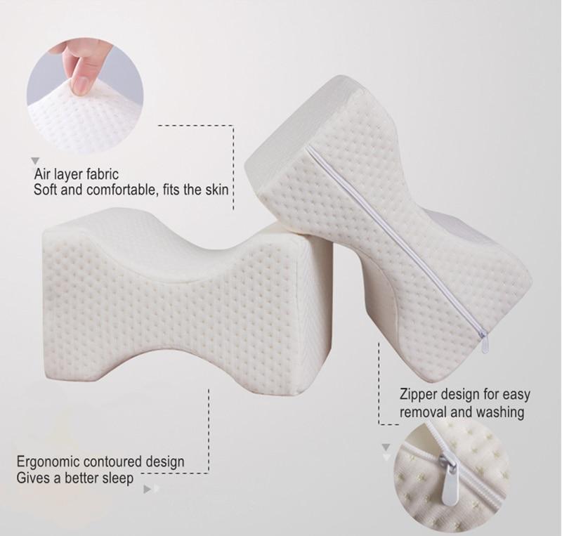 Positioning Body Pillows Sleeping Bolster Under Knee Pillow Orthopedic Posture Supporter Leg Cushion Cojin Rodillas Dormir
