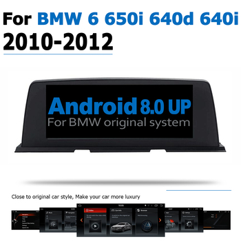Car Radio DVD Player For BMW 6 640i 650i 640d 2010~2012 CIC Android 8.0 up Autoradio GPS Navigation HD Touch Screen