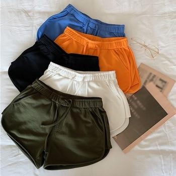 Casual Elastic Waist Shorts Wide Leg Loose Shorts High Waist Shorts With Pockets