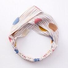 Women Fashion Headbands Hair Accessories Headwrap Turban Leaf Headband Cross Knot Elastic Hair Bands Headwear for Girls