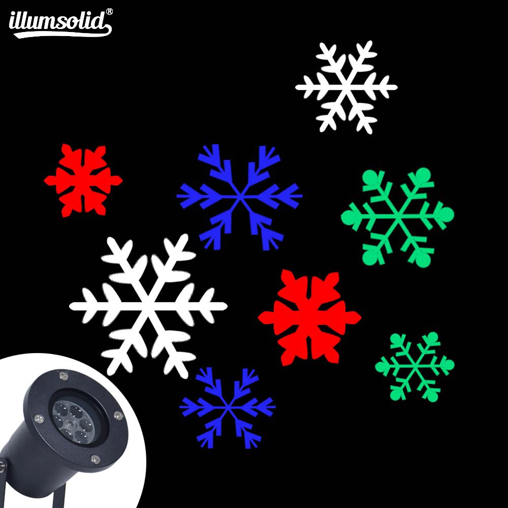 LED Party RGBW/white snowflake Pattern Projector Christmas Halloween Laser Projector dj Disco Light For Home Decoration|Stage Lighting Effect| |  - title=