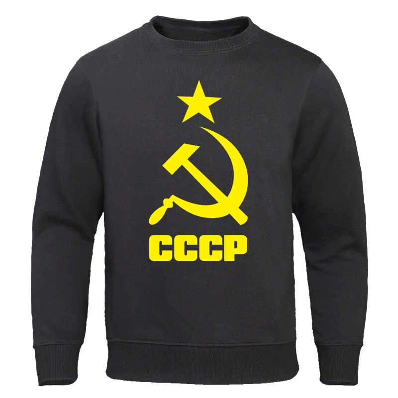 Men's Clothing 2019 Autumn CCCP Russian Hoodies Men USSR Soviet Union Man Sweatshirts Moscow Male Pullovers Cotton O Neck Tops