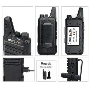 Image 3 - 20 sztuk mini walkie talkie Retevis RT22 ekstremalne ultra cienki 2 W UHF VOX Ham Radio Transceiver Hf Two Way Radio stacja