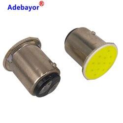 1pcs 1157 BAY15D COB 12 SMD 12 Led stop lamp P21W Auto Car Signal Reverse parking Led Lights Brake light white car accessories