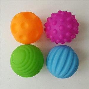 Image 3 - 1/4/6 個子供テクスチャーサウンディングボールハンドマッサージ赤ちゃんのおもちゃ触覚感覚おもちゃベビートレーニングのおもちゃ子供のため