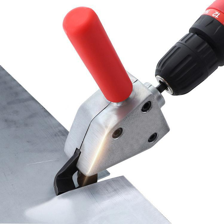 1/4in Nibble Metal Cutting 6.35 Sheet Metal Nibble Cutter HCS Drill Shear Attachment Electric Scissors for Power Tool Accessorie