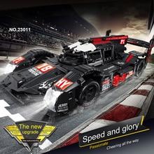 Juego de bloques de construcción de coche de carreras RC, juguete técnico de construcción de coche de Fórmula RC, Compatible con Motor eléctrico