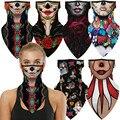 Индийская женская ведьма женская хэллоуин роза бабочка вампир ужас косплей маска для лица шейный шарф маски бандана головная повязка балак...