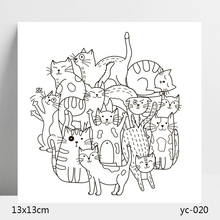 AZSG cat Clear Stamps/Silicone Transparent Seals for DIY scrapbooking Card Making 13*13cm