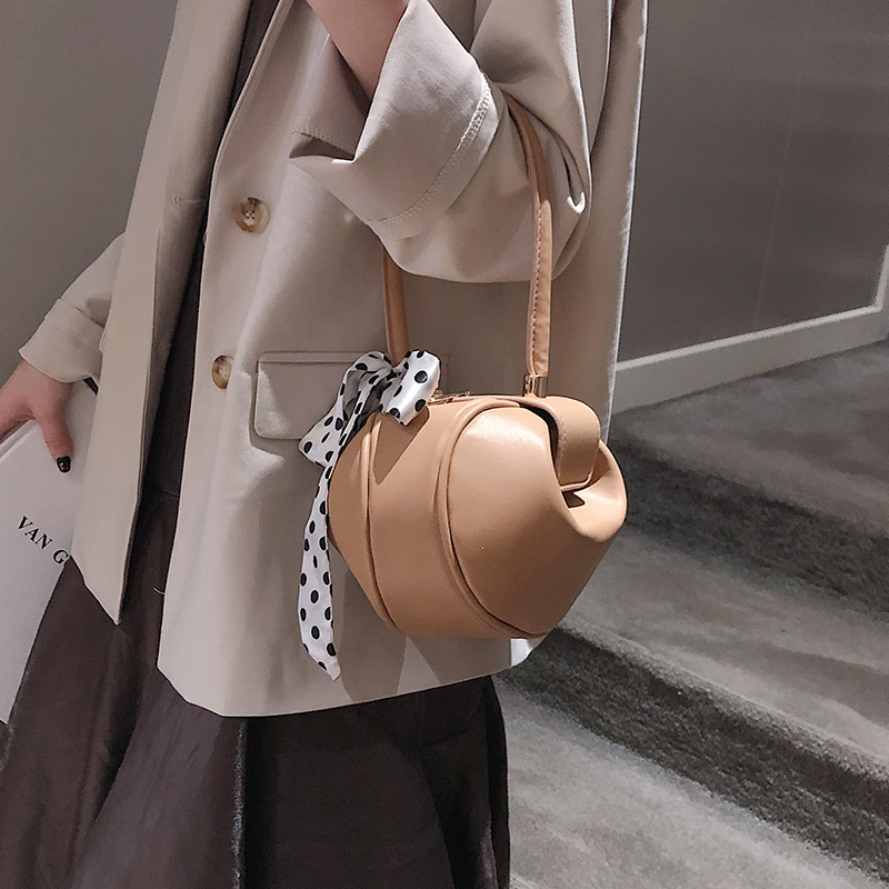 Fashion Scarf Small Round Bags Women Handbags Brands Chic Wrist Bag High Quality Ladies Tote Dinner Party Purses