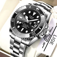 LIGE Top marque de luxe de mode nouveaux hommes montre 30ATM étanche Date horloge mâle Sport montre hommes Quartz montre-bracelet Relogio Masculino