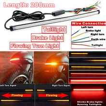 Motorfiets Sequentiële Running Brake Achterlicht Richtingaanwijzer Geïntegreerde Led Stop Light Strip Motorfiets Led Licht 200Mm Drop Schip(China)