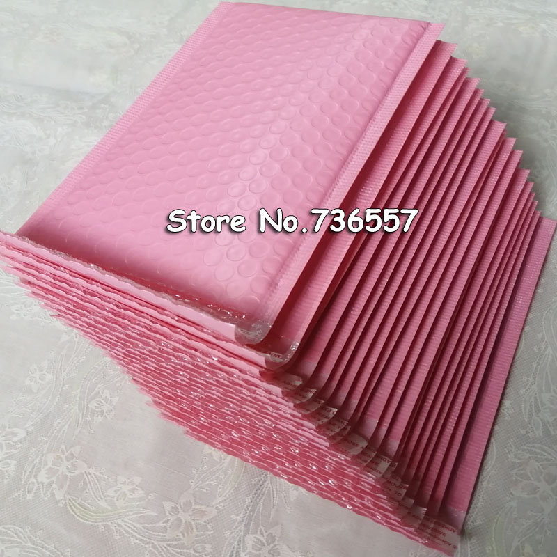 Pink 5.1X7.8inch / 130X200MM Usable Space Poly Bubble Mailer Envelopes Padded Mailing Bag Self Sealing [100pcs]