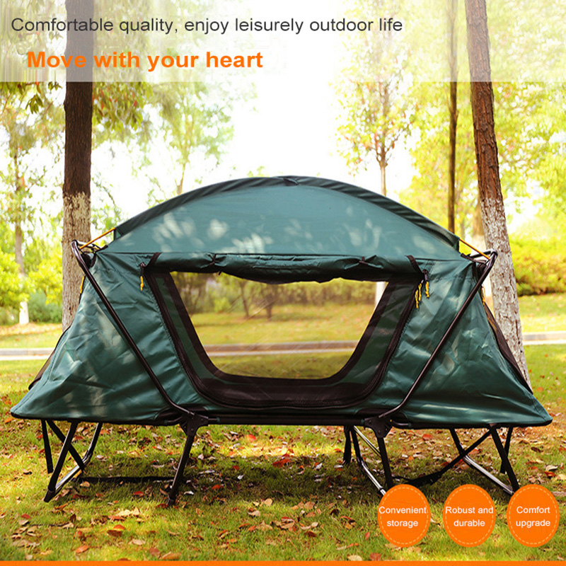 Outdoor Camping Double Tent Portable Multi-functional Fishing Camping Double Layer Moisture-proof And Proof Off The Ground Tents