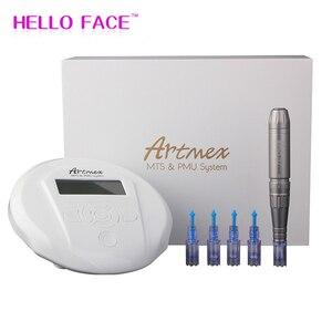 Image 1 - Artmex Machine à tatouer rotatif V6, pour maquillage Permanent, appareil de Micropigmentation, pour sourcils, stylo dermatologique