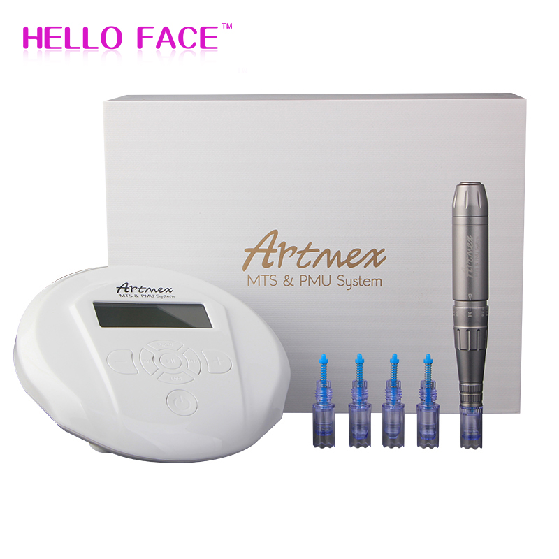 Artmex V6 Permanent Makeup Eyebrow Tattoo Machine With Digital Control Panel Micropigmentation Device Eye Brow Lip Derma Pen