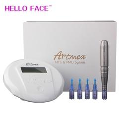 Artmex V6 Permanent Makeup Eyebrow Tattoo machine With Digital Control Panel Micropigmentation Device Eye Brow Lip derma Pen