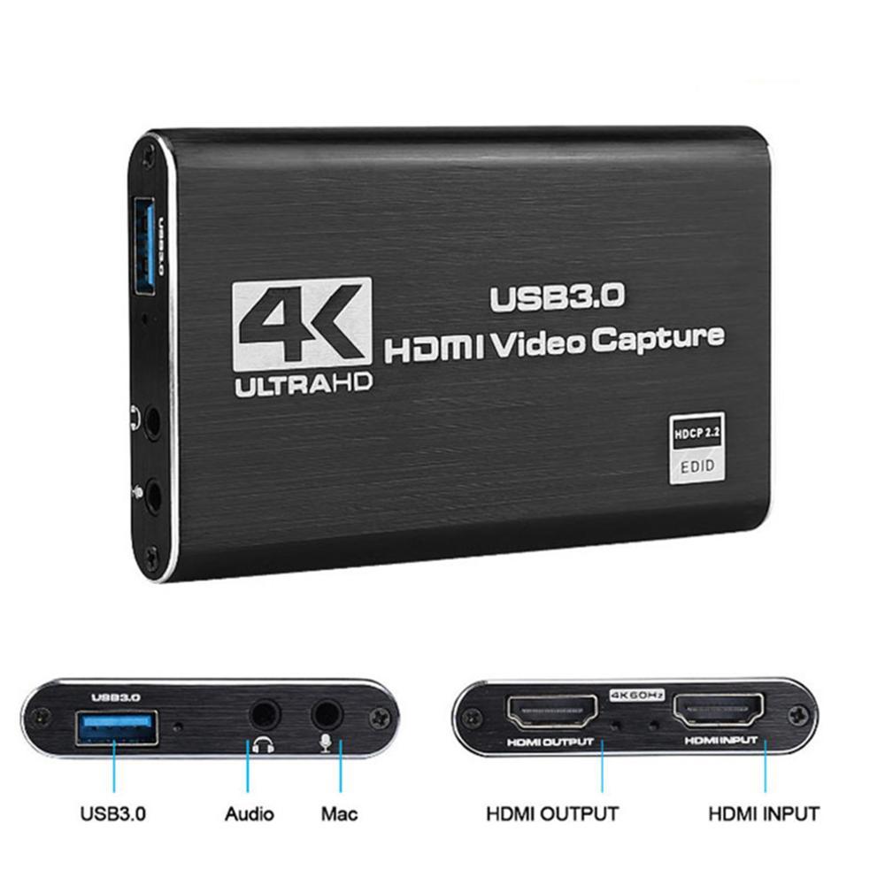 4K Game Video Capture Card USB3.0 1080P Grabber Dongle HDMI-compatible capture card for OBS Capturing Game Capture Card Live 4