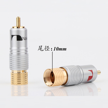 Rca-Plug Connector Cable Signal-Line Silver-Color Solder-Free Lotus-Terminal Gold-Plated