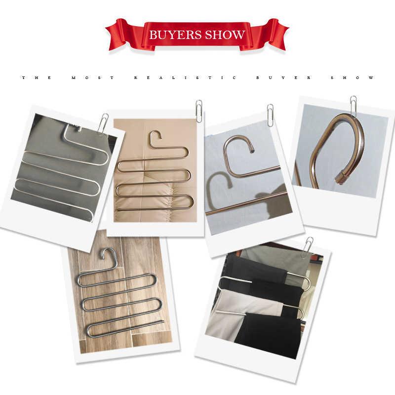 BAKINGCHEF Многофункциональность 5 слоев брюки вешалка брюки Костюмы Органайзер Домашний для хранения аксессуары Шестерни вещи