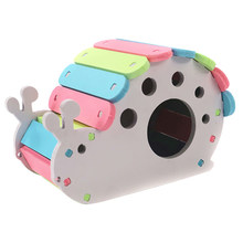 Colorful Pet Nest Bed Hut Adorable SNAIL House Hamster Squirrel Baby Rabbit Gerbil Climbing Chewing Toy(China)