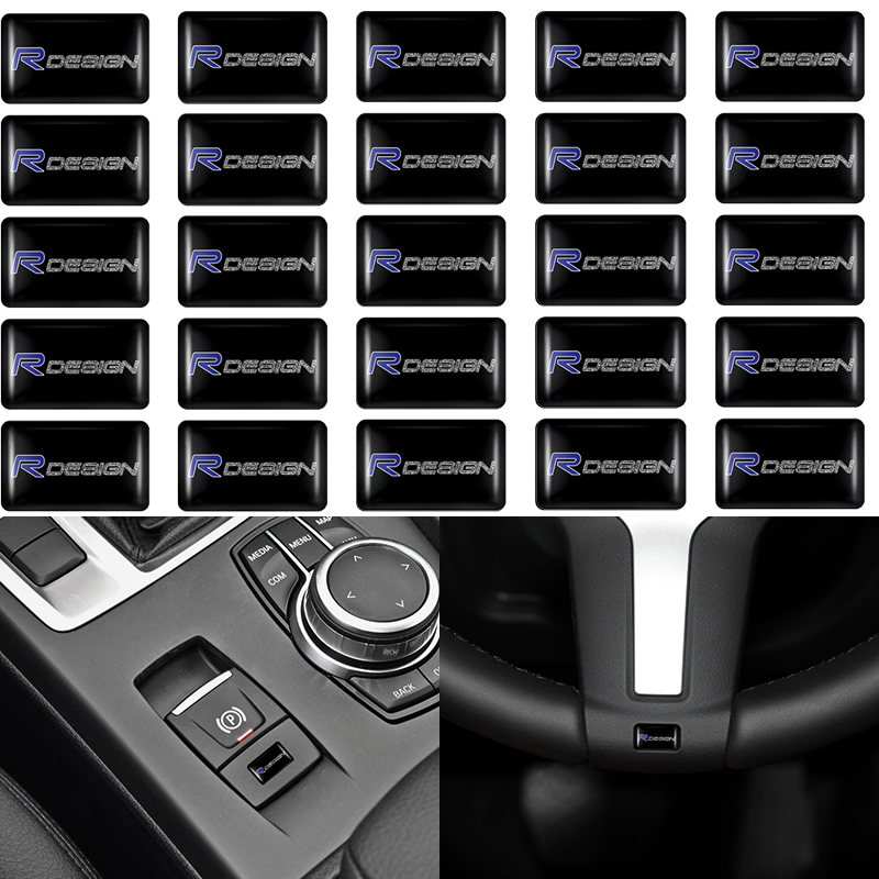 Car <font><b>styling</b></font> 3D Epoxy Emblem Car Steering Wheel Stickers For <font><b>Volvo</b></font> Rdesign XC90 S60 XC60 V70 S80 S40 <font><b>V50</b></font> V40 V60 C30 S70 S90 V90 image