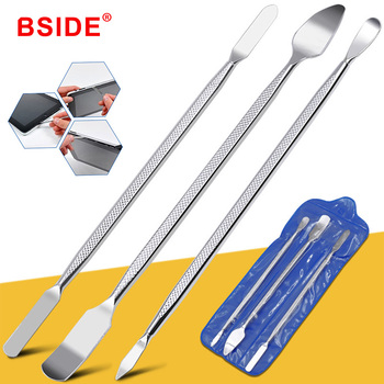 цена на 3PCS/Set BSIDE Repair Opening Pry Hand Tool Kit Blade Phone Tablet PC Metal Spudger Disassemble Tools For iPhone/iPad/Tablet