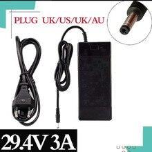 29.4V 3A lityum pil şarj cihazı 7 serisi 29.4V 3A şarj için 24V pil paketi, elektrikli bisiklet lityum pil şarj cihazı