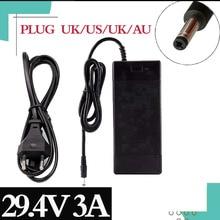Carregador da série 7 29.4v 3a do carregador de bateria do lítio 29.4v 3a para o bloco de bateria 24v, carregador de bateria bonde do lítio da bicicleta