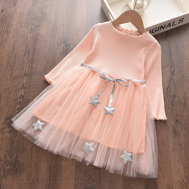 2021 enfants vêtements princesse robe à manches longues pour fille robe chaude pour fille nouveau filles vêtements printemps filles robe 3T-14T
