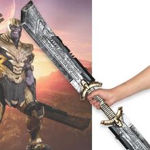 1 1 miecz 110cm bronie do cosplay obosieczny Thanos film Role Playing Model rysunek Thor Thunder Hammer Model figurki PU zabawka tanie tanio LISM Other Kategoria miecz broń Diecast 6 lat Unisex