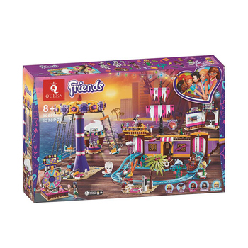 Friends Set Amusement Park Fit for lepining Friends Model Building Block Bricks Toys For Girl 41375 Christmas Gifts