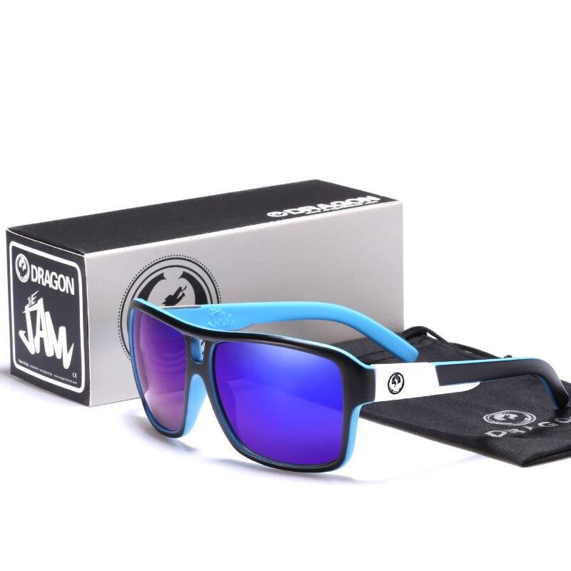Солнцезащитные очки Dragon для мужчин и женщин, Классические спортивные темные очки квадратной формы, чёрные