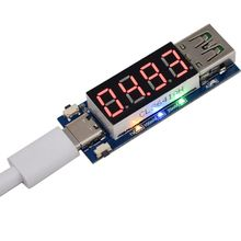 цена на Quick Charger Type-C USB Voltage Current Tester Detector Trigger Digital Voltmeter Ammeter Mobile Power Supply