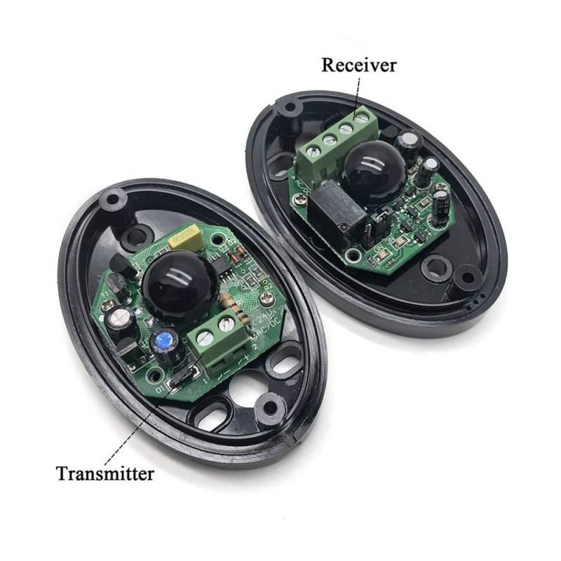 Single Beam Infrared Radiation Detector Automatic Door Light Sensor Burglar Alarm Single Light Infrared Alarm Detector