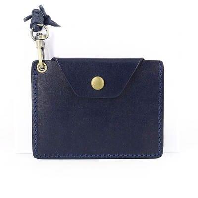 offerte esclusive scarpe classiche sporco online ID/Porta Badge Cordino Retrattile in vera pelle mini portafogli ...