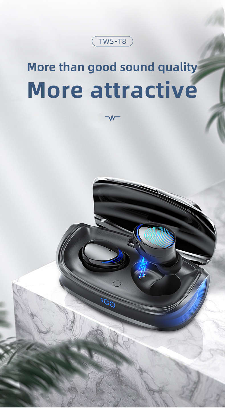 HJCE T8 TWS Wireless Bluetooth Earphones 6