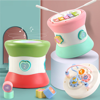 Baby hand drum toy knock on the piano 0 3 music early education puzzle multi function baby pat drum baby toys YL 06