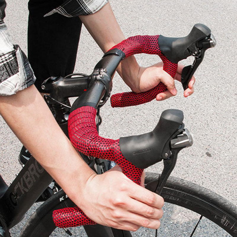 TWTOPSE Silicone Bike Bicycle Handlebar Tape Anti-slip Shockproof Cycling Road Bicycle Race Bike Handlebar Bar Tape Accessories