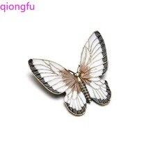 Qiongfu Butterfly Brooch Cartoon Insect Brooch Women Brooch Gifts for Women Women Accessories rhinestoned butterfly brooch