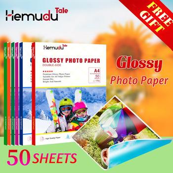 цена на A4 50 sheets Inkjet Glossy Photo-Paper Double-side Printing For Printer Photographer imaging printing paper