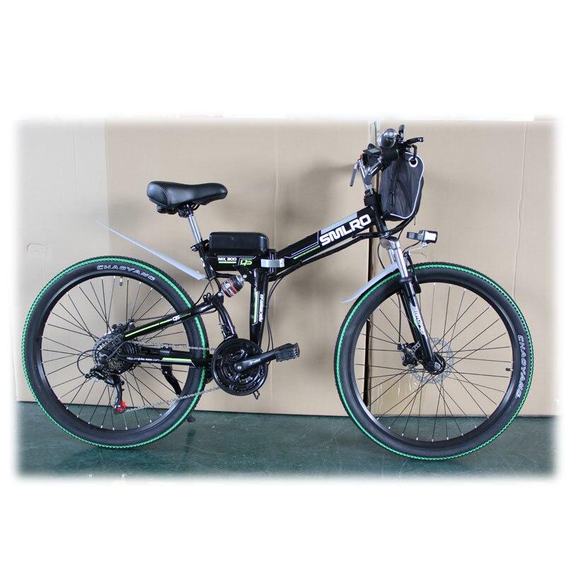 Canvas Battery Bag e bike 26 inch 350W Lithium Battery   Folding  Electric Bicycle E Bike 4