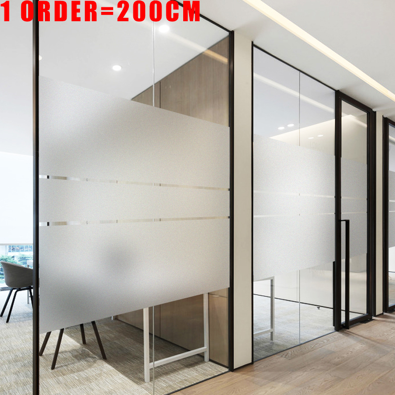 200cm Frosted Window Film Privacy No Glue Static Cling Heat Transfer Vinyl Glass Sticker For Bathroom Glass Film Decorative New