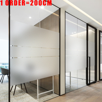 200cm Frosted Window Film Privacy No Glue Static Cling Heat Transfer Vinyl Glass Sticker for Bathroom Glass Film Decorative New wxshsh privacy white cross non adhesive frosted window film removable static cling decorative glass sticker no glue uv blocking