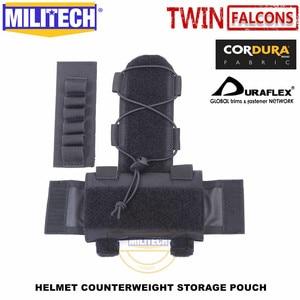 Image 5 - Militech twinfalcons twヘルメットカウンターウェイトバッテリー収納ポーチ収納ポーチ戦術的な軍事nvg重量カウンターポーチバッグ